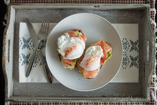 Avocado Smash, Poached Egg and Salmon on Toast
