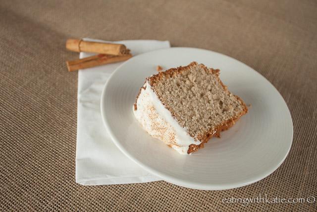 chai chiffon cake slice