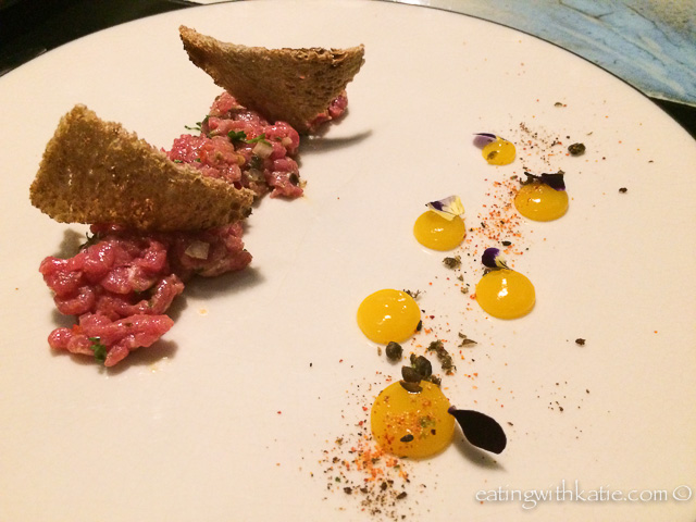 Mr Hive Beef Tartare and sourdough $19