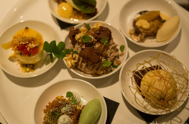 Ezard dessert tasting plate to share