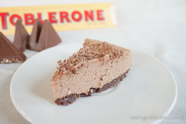 Toblerone cheesecake slice